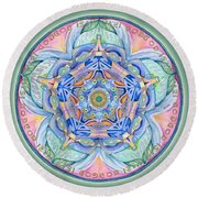Compassion Mandala Round Beach Towel