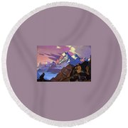 Compassion Round Beach Towel