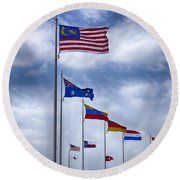 Competing Countries V2 Round Beach Towel