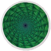 Complex Convexity Cavern Moss And Blue Round Beach Towel
