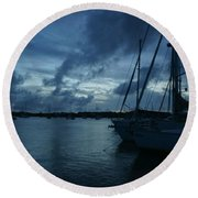 Composed Silence Round Beach Towel