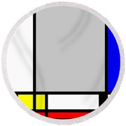 Composition 107 Round Beach Towel