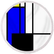 Composition 118 Round Beach Towel