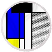 Composition 119 Round Beach Towel