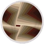 Composition 162 Round Beach Towel