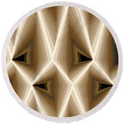 Composition 257 Round Beach Towel