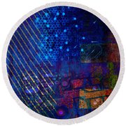 Compute Abstract Round Beach Towel