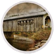 Comstock Bridge 2012 Round Beach Towel