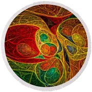 Conception Abstract Round Beach Towel