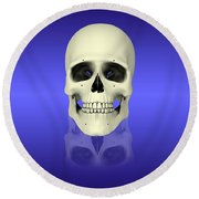 Conceptual View Of Human Skull Round Beach Towel by Stocktrek Images