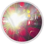 Concert Lights Round Beach Towel