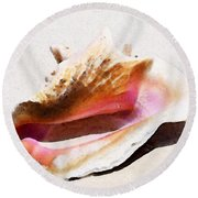 Conch Shell - Listen Round Beach Towel