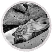 Conch Shell One Round Beach Towel