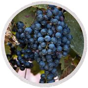 Concord Grapes Round Beach Towel