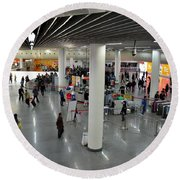 Concourse At People's Square Subway Station Shanghai China Round Beach Towel