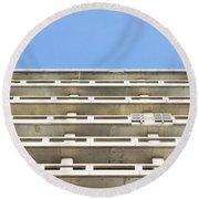 Concrete Building Round Beach Towel