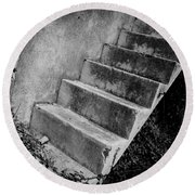 Concrete Steps Round Beach Towel