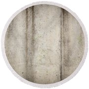 Concrete Wall Round Beach Towel