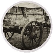 Conestoga Wagon Round Beach Towel
