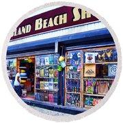 Coney Island Beach Shop Round Beach Towel