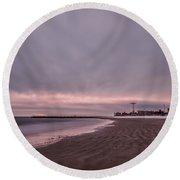 Coney Island Bound Round Beach Towel by Evelina Kremsdorf