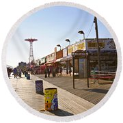 Coney Island Memories 8 Round Beach Towel