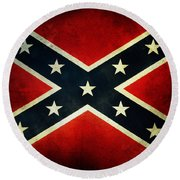 Confederate Flag Round Beach Towel by Les Cunliffe