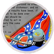 Confederate States Of America Robert E Lee Round Beach Towel by Digital Creation