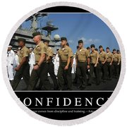 Confidence Inspirational Quote Round Beach Towel by Stocktrek Images