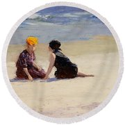 Confidences Round Beach Towel