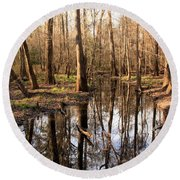 Congaree Reflections Round Beach Towel