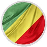 Congo Flag Round Beach Towel