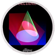 Conic Section Ellipse Poster Round Beach Towel