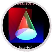 Conic Section Hyperbola Poster Round Beach Towel