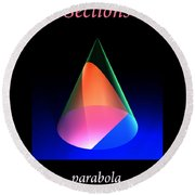Conic Sections Parabola Poster 6 Round Beach Towel