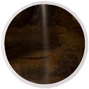Conkles Hollow Falls Round Beach Towel