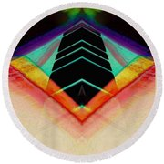 Connected In The Dark6 Round Beach Towel