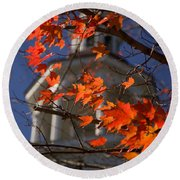 Connecticut Fall Colors Round Beach Towel by Jeff Folger