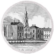 Connecticut Middletown Round Beach Towel