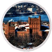 Connecticut Street Armory Winter 2013 Round Beach Towel