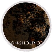 Connor - Stronghold Of God Round Beach Towel