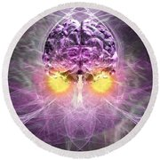 Consciousness 1 Round Beach Towel