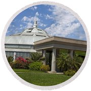 Conservatory At The Huntington Library Round Beach Towel