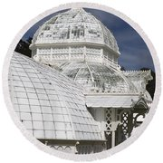 Conservatory Of Flowers Gate Park Round Beach Towel