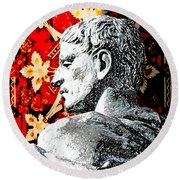 Constantine The Great Round Beach Towel