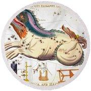 Constellation: Cetus Round Beach Towel