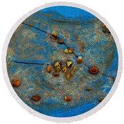 Constellation Of Taurus Round Beach Towel by Augusta Stylianou