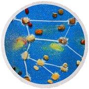 Constellation Of Ursa Major Round Beach Towel by Augusta Stylianou