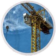 Construction Crane Asia Round Beach Towel