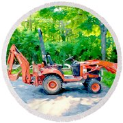 Construction Machinery Equipment 1 Round Beach Towel